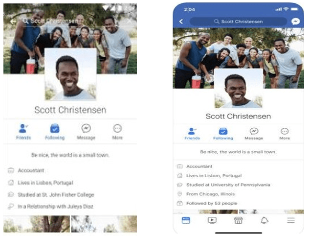 Facebook Android and iPhone apps