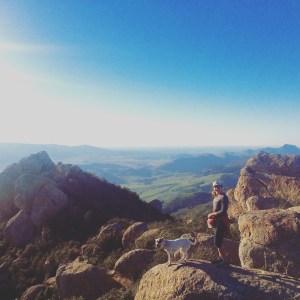 Atop Bishops Peak in San Luis Obispo