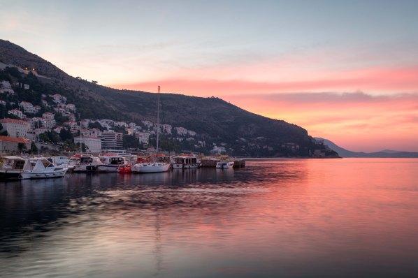 Dawn rises over Dubrovnik