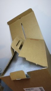 Notice how the box is folded to provide an integrated carrying handle?