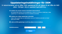 Prompted to enter update settings: good Only available in Swedish: fail