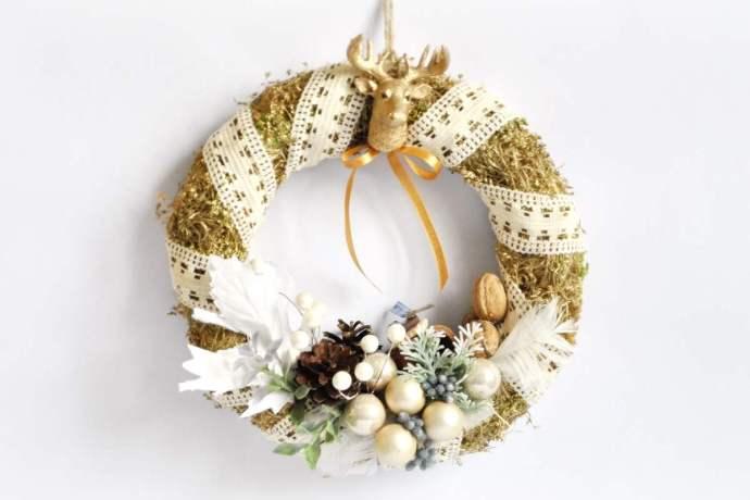 Wieniec świąteczny na drzwi Ptaszarnia
