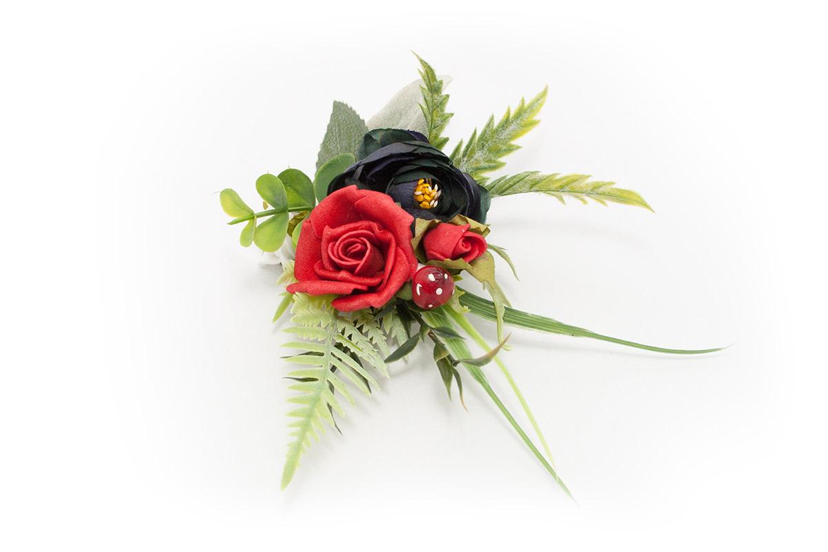 utonierka Róże Tyrolu Ptaszarnia