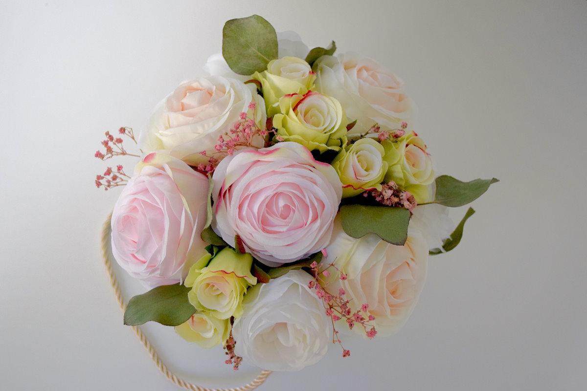 Kremowy Flower Box mały Ptaszarnia