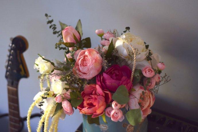 Pudrowy Flower Box Duży Ptaszarnia