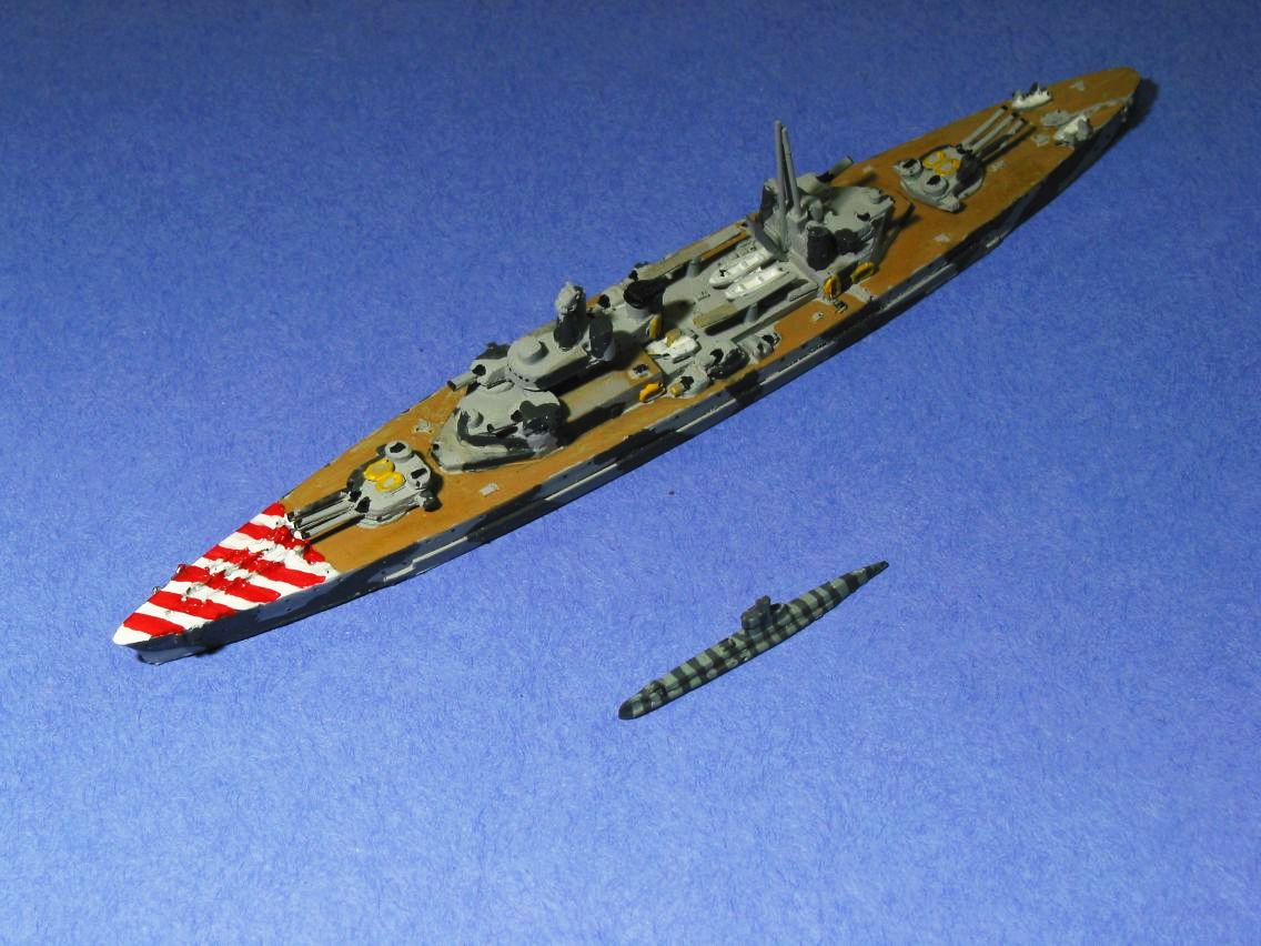 SL-1 Italian Project 770 Pocket Battleship & SL-2 US K-Class Sub
