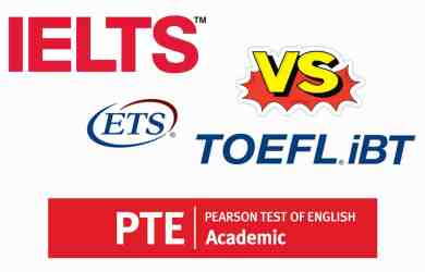 Difference Between PTE, IELT and TOEFL