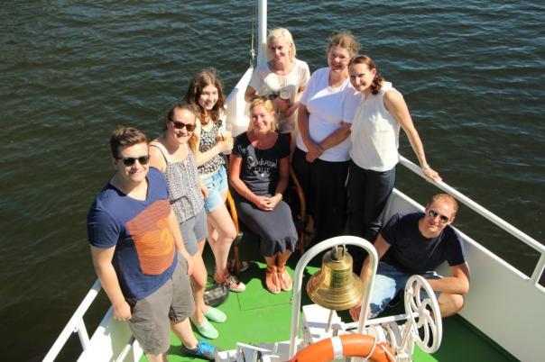 Das ptex-team beim Betriebsausflug mit der MS Hannover