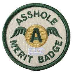 CES Asshole Merit Badge