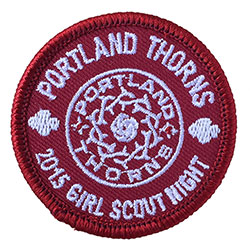 Thorns Girls Scout Night 2015