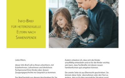 Kostenfreie Info-Briefe für Familien nach Samenspende etc.: über 500 Mal heruntergeladen!
