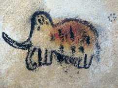 Atelier peinture : le mammouth de Gaëtan