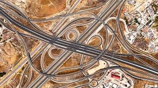"""Croisement """"spaghetti"""" à Madrid, Espagne"""