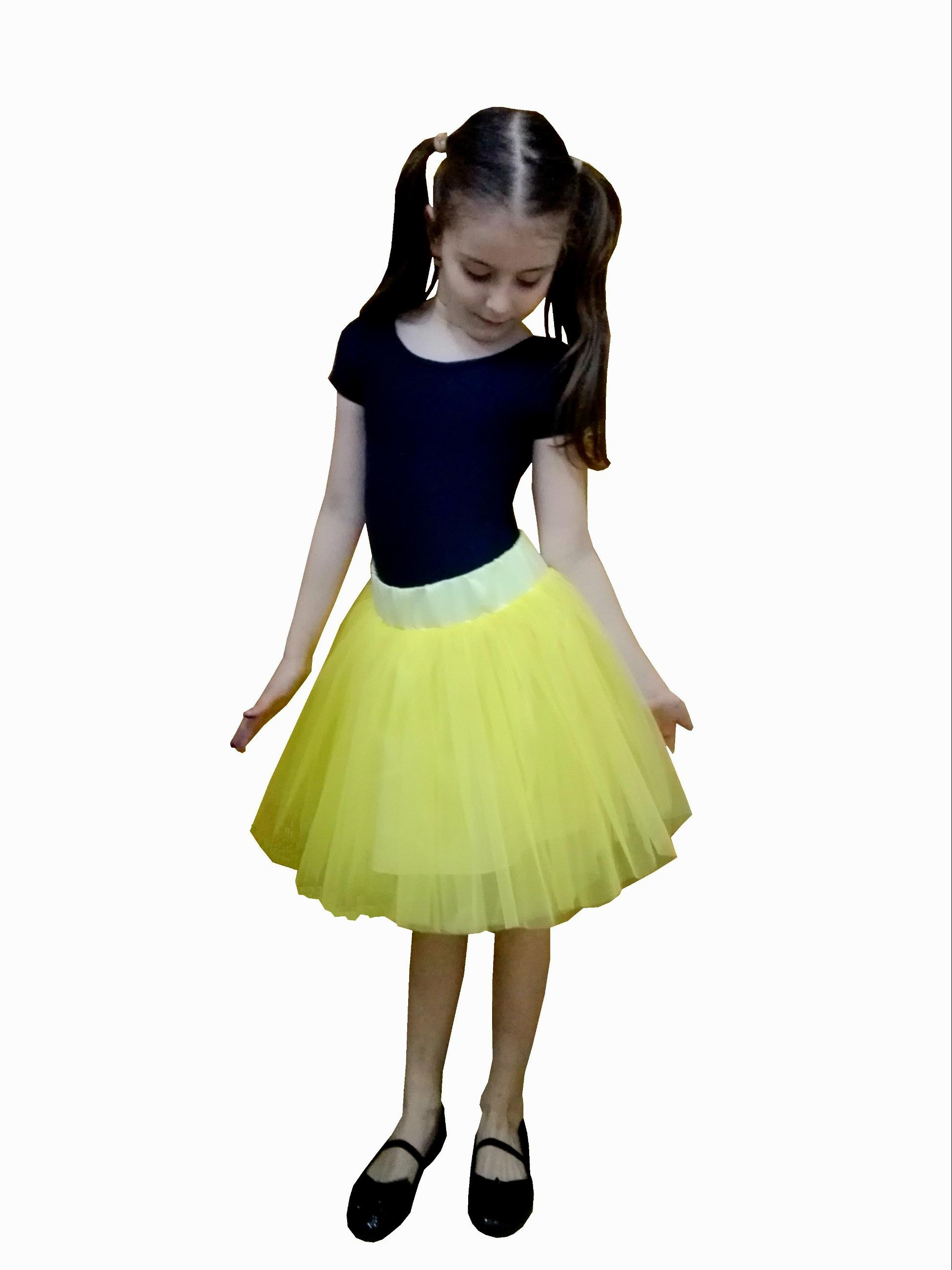 Fusta Tulle Galben Tutu Copii Alessia 6 10 Ani Ptk Fashion
