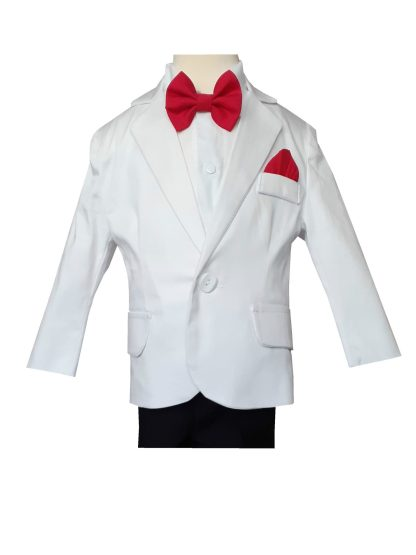 Costum ocazie baieti PTK Alb/Negru 1-8 ani