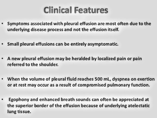 Signs and Symptoms of Pleural Effusion