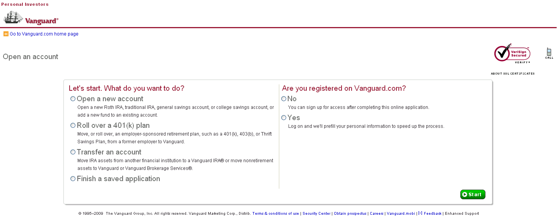 Vanguard ira options trading