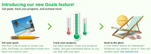 Mint Savings Goals Feature