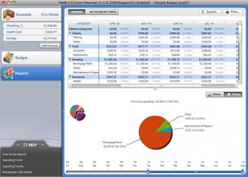 You Need a Budget Screenshot