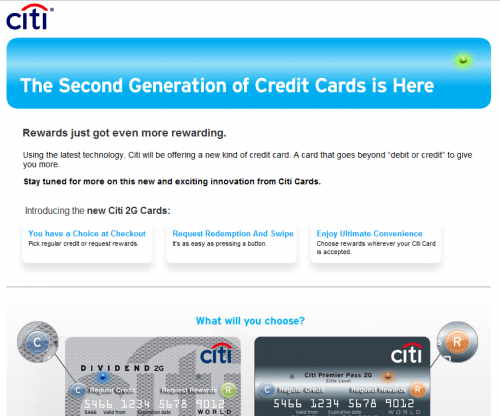 Citi 2G Credit Card