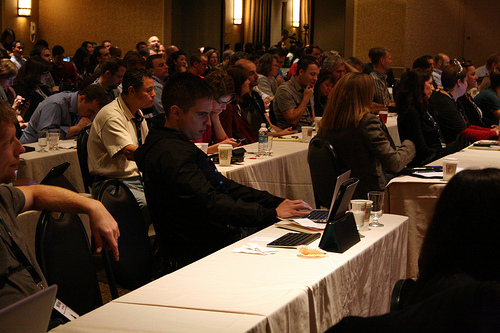 Attendees at the Financial Blogger Conference