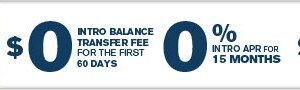 Slate from Chase 15 Month Balance Transfer with NO FEE
