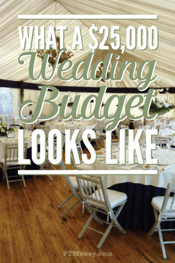 Check out all the information you need for a $25,000 wedding. There is a line by line budget breakdown showing where every penny goes. It may not be exactly how you want to plan your wedding, but this article gives great ideas for keeping costs within your budget.