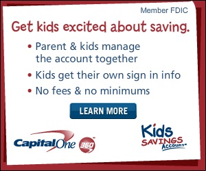 Capital One 360 Gift of Savings for Kids and Gift of MONEY for Teens