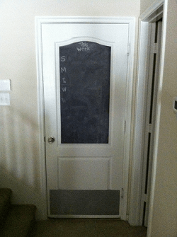 Rental Property Repairs - New Door Kick Plate