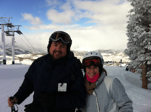 Utah Ski Trip on Frequent Flier Miles from Credit Card Bonus