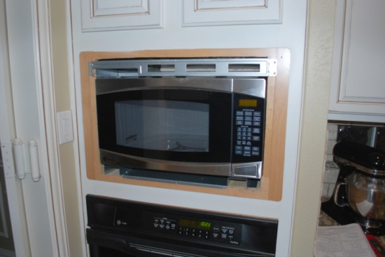 New Built In Microwave Installation