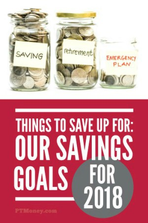 The Important Things We're Saving For (Our Savings Goals for 2018)