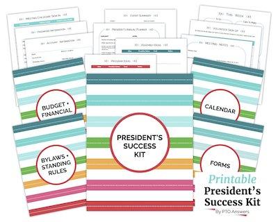 PTO PTA President's Success Kit