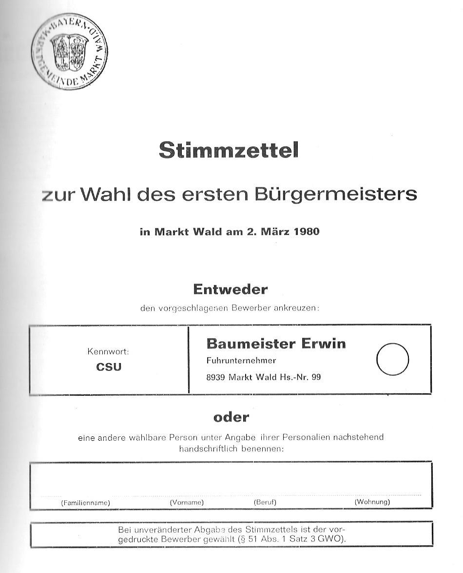 Stimmzettel Vorlage Verein