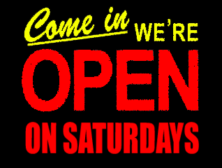 Open on Saturdays