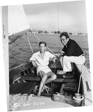 Bogart and Bacall sailing