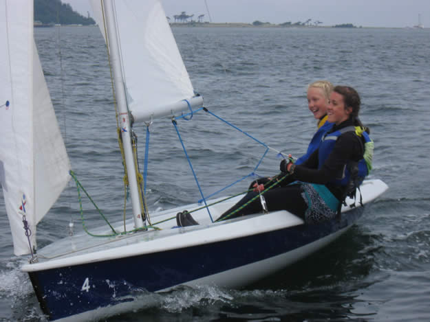 Eliza and Britz laugh while charging it to another first place in the V15s ...