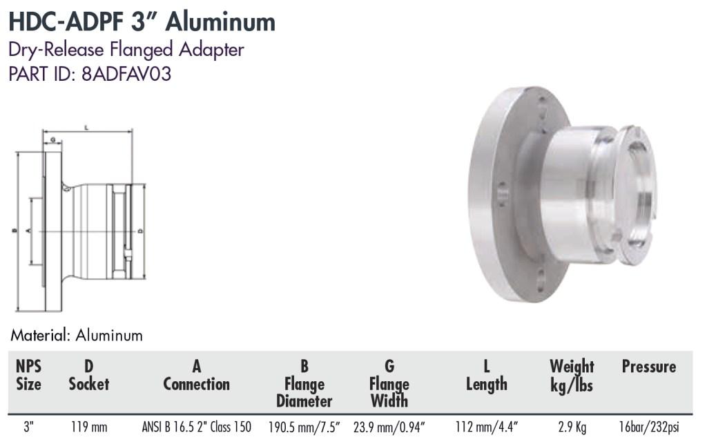 """HDC-ADPF 3"""" Aluminum"""