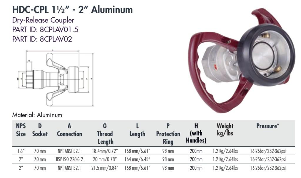 """HDC-CPL 1½"""" - 2"""" Aluminum"""