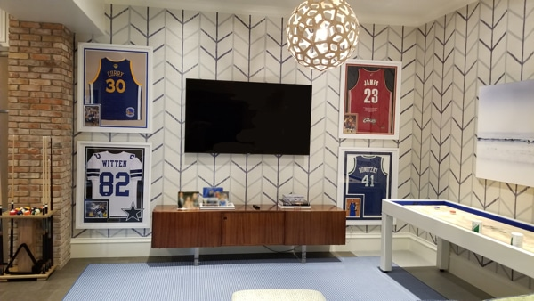 Highland Park media room