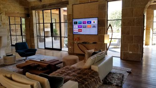 dallas home theater family room installation