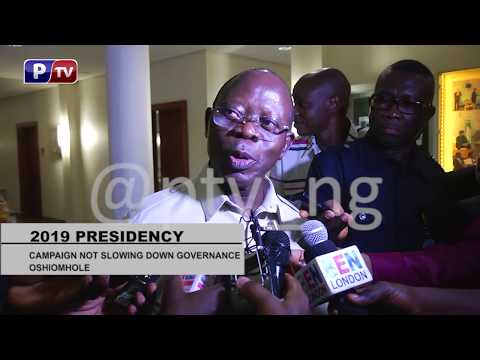 [WATCH] The opposition is stale fish, Atiku is a street fighter- Oshiomhole
