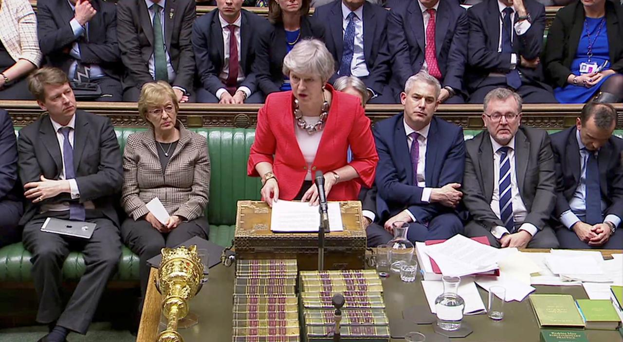 PM May's statement after second defeat of her EU deal