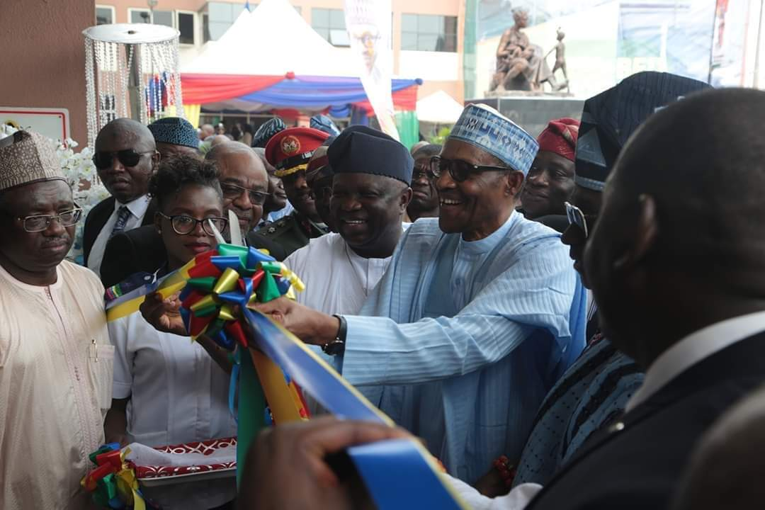 PHOTOS: Buhari commissions Institute of Maternal and Child Health, Lagos