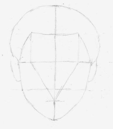 Upper hair outline
