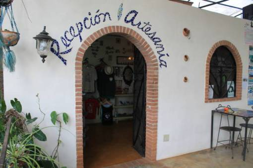 The reception area and artisan gift shop