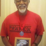 Uncle Bobby with his official Grand Marshall plaque from the Catalina Crossing