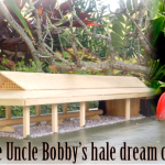 scale model of paukea learning center with uncle bobby