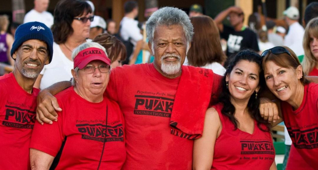 photo of Puakea board and volunteers: Ricky, Pat, Bobby, Noe, and Alana
