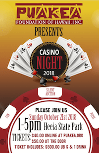 Puakea Casino Night Flyer thumbnail